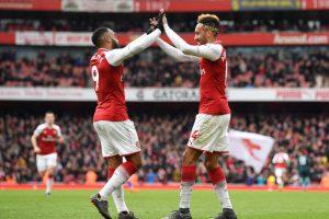 Derbi London, Arsenal Kemungkinan Turunkan Duet Aubameyang-Lacazette