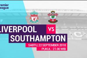 Prediksi Liverpool Vs Southampton Liga Premier 2018-2019 : Bagaimana Nasib Salah