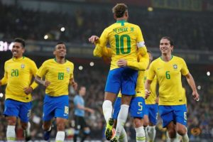 International Firendly Match : Brazil 1-0 Uruguay